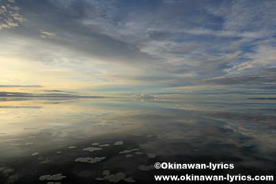 ウユニ塩湖の朝日@プラヤブランカ(Playa Blanca Salt Hotel at Salina de Uyuni)