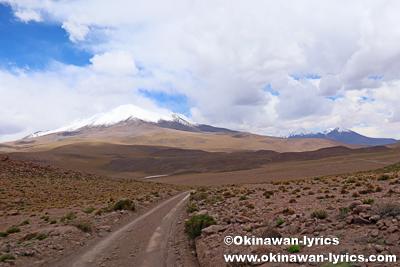アンデス山脈の道@ボリビア