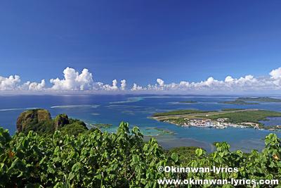 ソケースマウンテン頂上からの眺望@ポンペイ(ミクロネシア連邦)