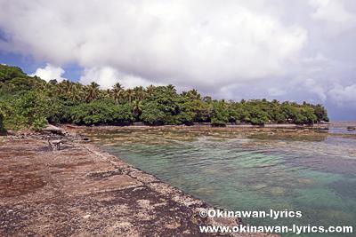 日本軍水上機用ランプ跡@ランガル島(Lenger island)、ポンペイ(ミクロネシア連邦)