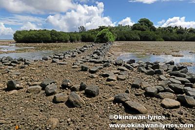 日本軍戦跡(Japanese wharf)@Sapwtik island、ポンペイ(ミクロネシア連邦)