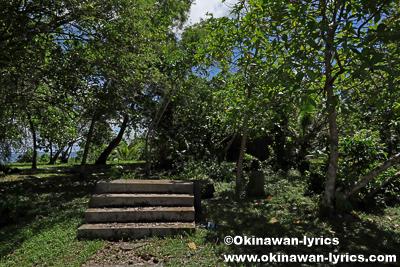 日本軍戦跡(command center ruins)@Sapwtik island、ポンペイ(ミクロネシア連邦)