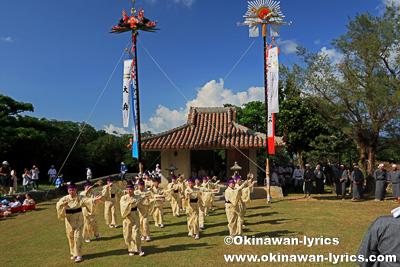 巻踊り(夜雨節)奉納@平成30年大浜豊年祭,石垣島