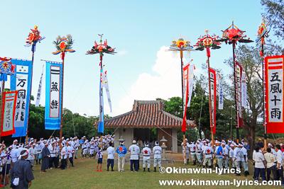 旗頭奉納@平成30年大浜豊年祭,石垣島