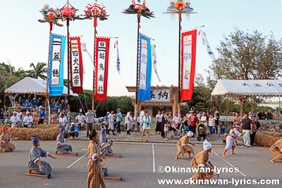 余興(大浜中学校郷土芸能部)@平成30年大浜豊年祭,石垣島