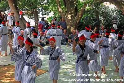 巻き踊り@イヤナスオン(米為御嶽),登野城豊年祭2018,石垣島