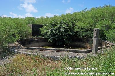 燐鉱産業遺跡群(旧東洋製糖社員浴場貯水タンク)@北大東島