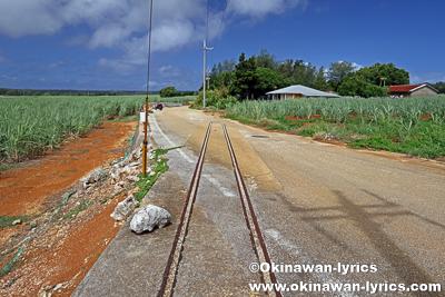 シュガートレイン線路跡@南大東島
