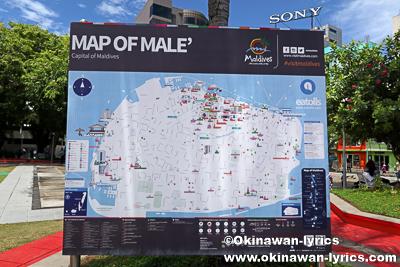 マーレ島の地図@モルディブ