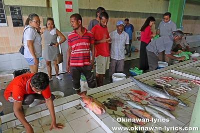 魚市場@マーレ島,モルディブ