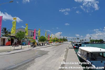 ダラバンドゥ島の港@バア環礁,モルディブ