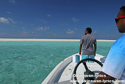Biosphere Innの船でサンドバンクへ@バア環礁,モルディブ