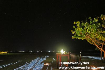 ビーチで夕食@バア環礁,モルディブ