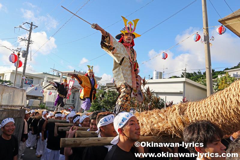 南城市大里の大城区豊年祭(シタク大綱曳)