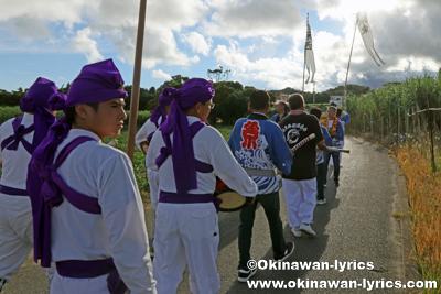 道ジュネー@八重瀬町安里の豊年祭