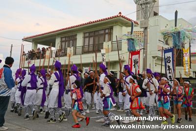 棒巻@八重瀬町安里の豊年祭