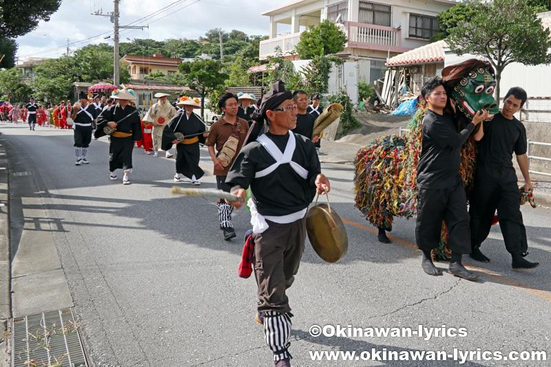 八重瀬町の志多伯豊年祭 その1(道ジュネー)