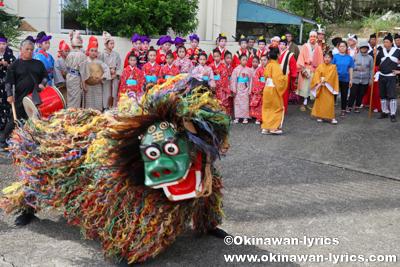 獅子舞@八重瀬町の志多伯豊年祭