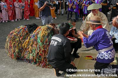 御願@八重瀬町の志多伯豊年祭