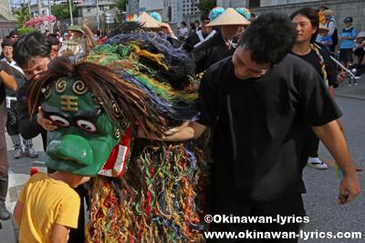 道ジュネーの獅子舞@八重瀬町の志多伯豊年祭