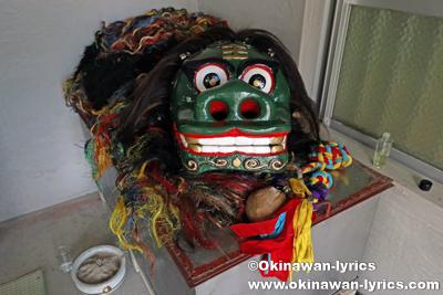ノロ殿内の神獅子@八重瀬町の志多伯豊年祭