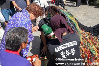 ノロ殿内での御願@八重瀬町の志多伯豊年祭