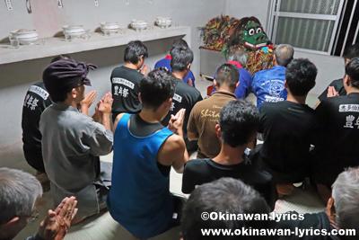 ノロ殿内での最後の御願@八重瀬町の志多伯豊年祭