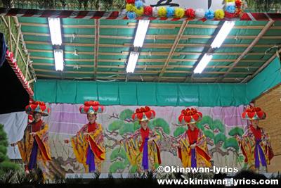 四つ竹@八重瀬町の志多伯豊年祭