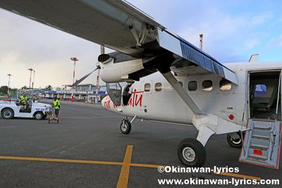 Air Vanuatuの国内線(DHC-6)@ポートビラ空港、エファテ島