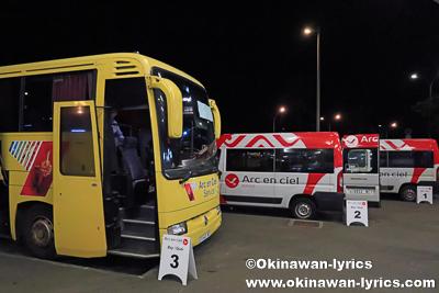 シャトルバス乗り場(Arc en Ciel)@ヌメア国際空港、ニューカレドニア