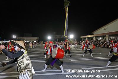 沖縄市松本青年会のエイサー@ちゃんぷる~市場(旧盆3日目ウークイ)