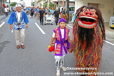 道ジュネー@沖縄市胡屋・仲宗根の獅子舞