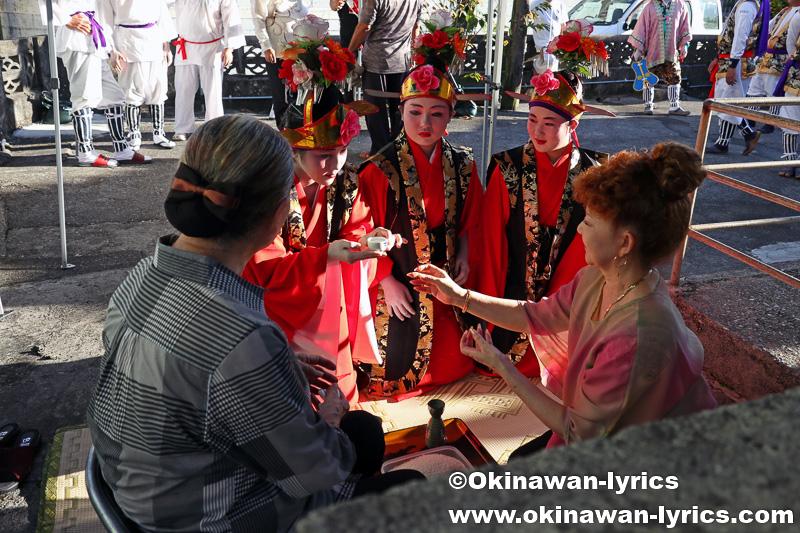 名護市の数久田区豊年祭 その1(道ジュネー・棒術)