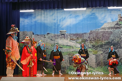 組踊「久志の若按司」@名護市の数久田区豊年祭
