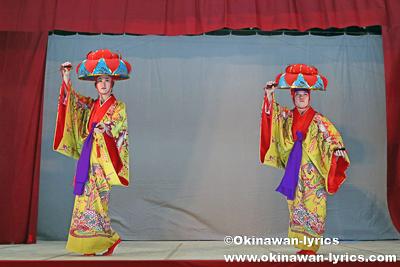 踊りクワディサー@今帰仁村の謝名区豊年祭