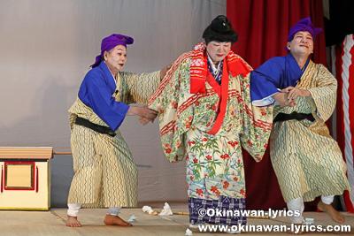 戻りかご@今帰仁村の謝名区豊年祭