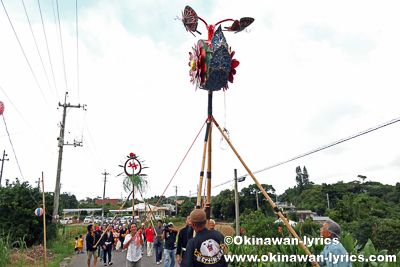 道ジュネー@今帰仁村の謝名区豊年祭