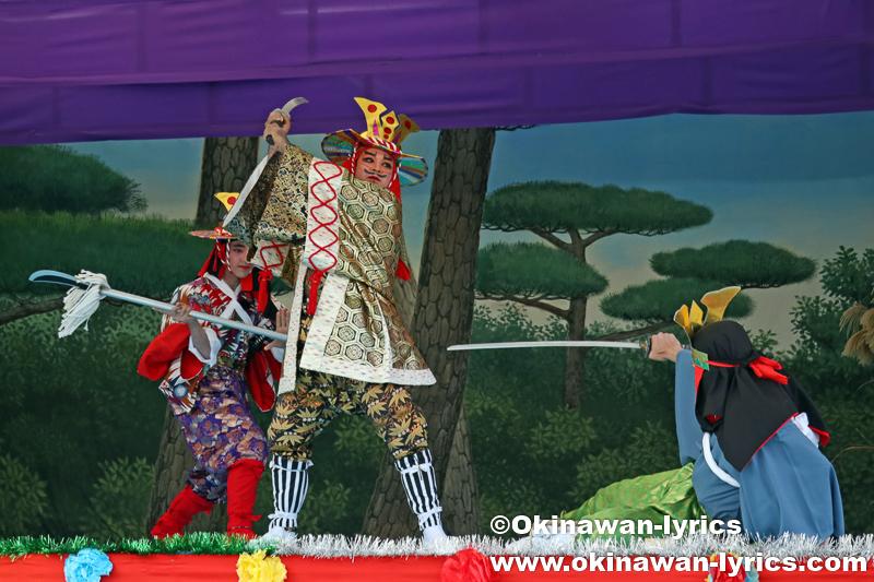 うるま市の伊計島招豊年祭 その3(組踊「伏山仇討」)