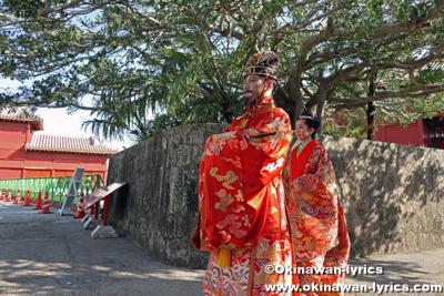 国王・王妃登場@首里城公園「新春の宴2020」
